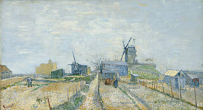 Urban Scenery Painting - Montmartre, Mills And Vegetable Gardens by Vincent van Gogh