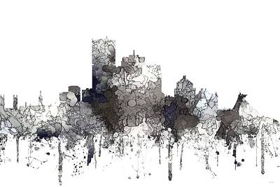 Digital Art - Montreal Que.skyline by Marlene Watson