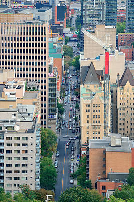 Photograph - Montreal Street View by Songquan Deng