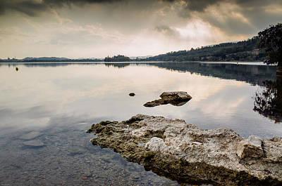 Photograph - Moody Clouds Over The Lake by Alfio Finocchiaro