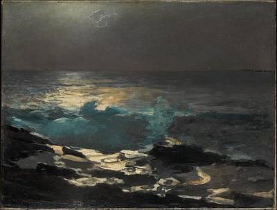 Moonlight Wood Island Light Original by Winslow Homer