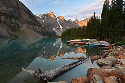 Photograph - Moraine Lake by Bernard Chen