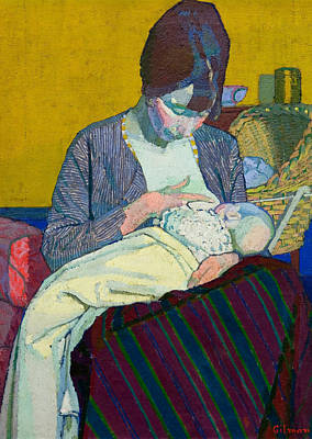 Painting - Mother And Child by Treasury Classics Art