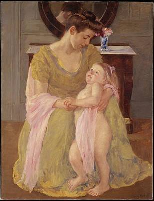 Mother And Child With A Rose Scarf Original