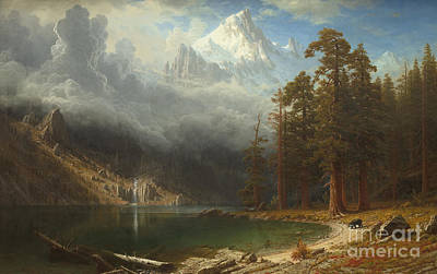 Albert Bierstadt Painting - Mount Corcoran by Albert Bierstadt