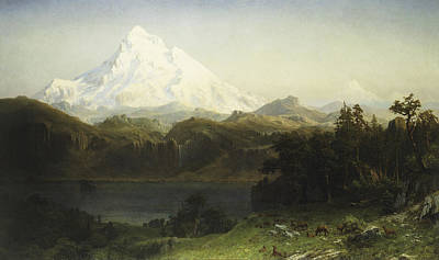 Mount Hood Painting - Mount Hood In Oregon by MotionAge Designs
