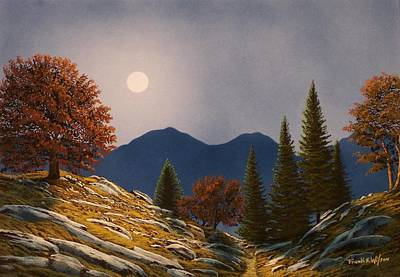 Mountain Moonrise Original by Frank Wilson
