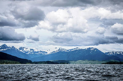 Photograph - Mountain Range Scenes In June Around Juneau Alaska by Alex Grichenko