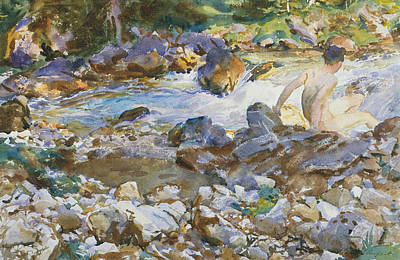 Drawing - Mountain Stream by John Singer Sargent