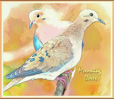Mourning Dove Pair  Art Print