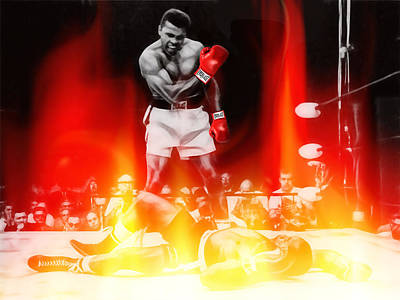 Mixed Media - Muhammad Ali Art by Marvin Blaine