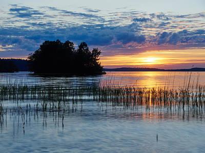 Photograph - Mukkula Sunset Midsummer Night by Jouko Lehto