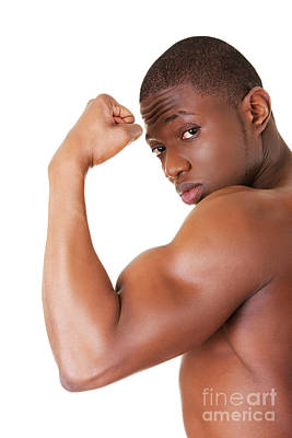 African American Diet Photograph - Muscular Black Man by Piotr Marcinski