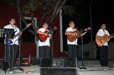 Musicians Royalty Free Images - Musicians in the Park Candelaria in Valladolid Royalty-Free Image by Carol Ailles