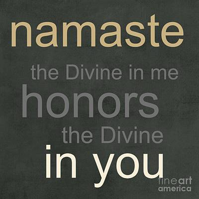 Yoga Mixed Media - Namaste by Linda Woods