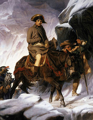 Painting - Napoleon Crossing The Alps by Paul Delaroche