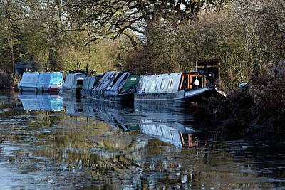 Photograph - Narrow Boats by David Harding