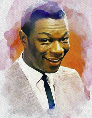 Music Paintings - Nat King Cole, Music Legend by Esoterica Art Agency