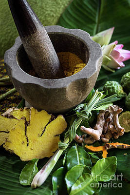 Photograph - Natural Organic Products In Asian Beauty Spa by Jacek Malipan
