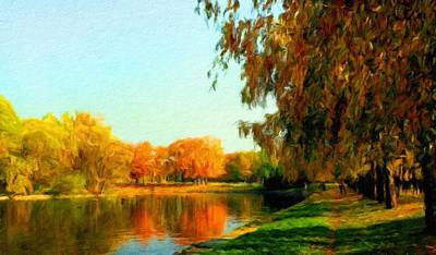 Sunrise Painting - Nature Landscape Paintings by Margaret J Rocha