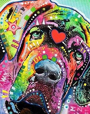 Mastiff Wall Art - Painting - Neo Mastiff by Dean Russo