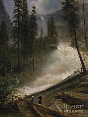 Yosemite Painting - Nevada Falls, Yosemite by Albert Bierstadt