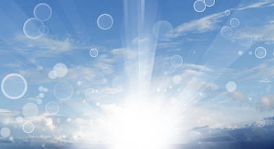 Sun Rays Digital Art - New Day by Les Cunliffe