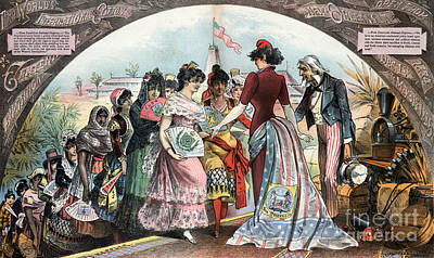 Drawing - New Orleans Fair, 1884.  by Granger