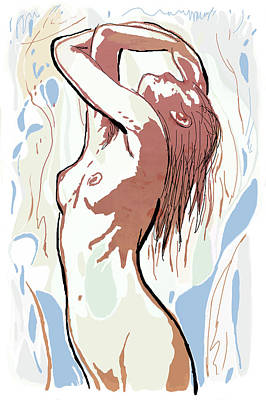 Hip Drawing - New Pop Art Dancing Poster   by Kim Wang