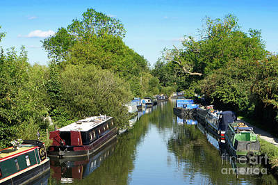 British Holiday Parks Photograph - Newbury Canal by Tom Gowanlock