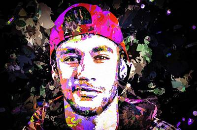 Mixed Media - Neymar by Svelby Art