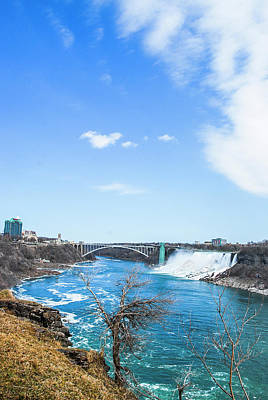 Photograph - Niagara Falls Scenery In Winter by Carl Ning