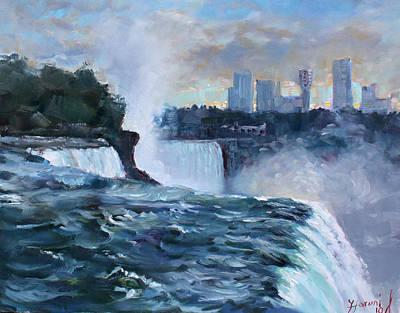 Waterfall Painting - Niagara Falls by Ylli Haruni