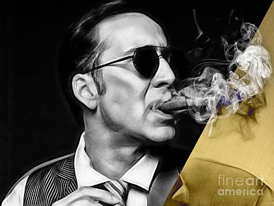Cigars Mixed Media - Nicolas Cage Collection by Marvin Blaine