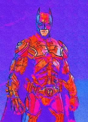 Batman Digital Art - Night Batman Print by Egor Vysockiy