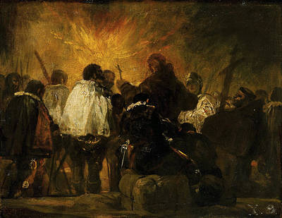 Dark Painting - Night Scene From The Inquisition by Francisco Goya