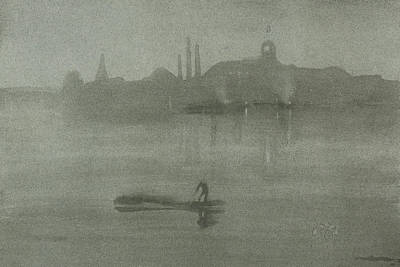 Grim Drawing - Nocturne by James Abbott McNeill Whistler
