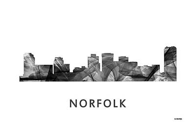 Norfolk Virginia Digital Art - Norfolk Virginia Skyline by Marlene Watson