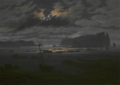 Painting - Northern Sea In The Moonlight by Caspar David Friedrich