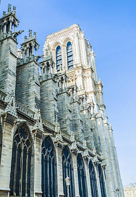 Photograph - Notre Dame Cathedral Bell Tower by Nila Newsom