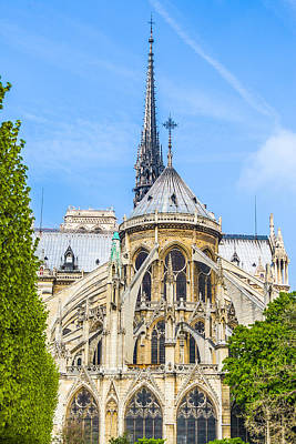 Photograph - Notre Dame Cathedral Paris Western Facade by Nila Newsom