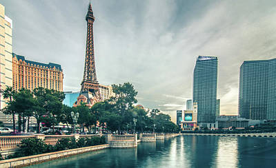 Paris Skyline Royalty-Free and Rights-Managed Images - november 2017 Las Vegas, Nevada - evening shot of eiffel tower a by Alex Grichenko