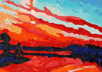 November Sunset Original by Phil Chadwick