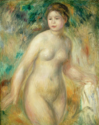 Outdoor Nude Painting - Nude by Pierre-Auguste Renoir