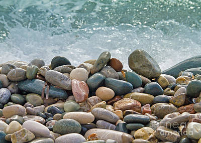 Wet Photograph - Ocean Stones by Stelios Kleanthous