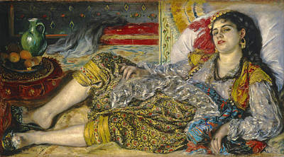 Odalisque Renoir Painting - Odalisque by Pierre-Auguste Renoir