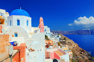 Photograph - Oia Town On Santorini Island by Michal Bednarek