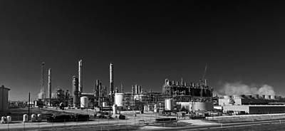 Oil Refinery - Groves Texas Art Print by Mountain Dreams