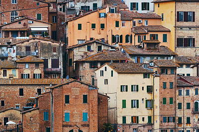 Photograph - Old Building Background Siena Italy by Songquan Deng