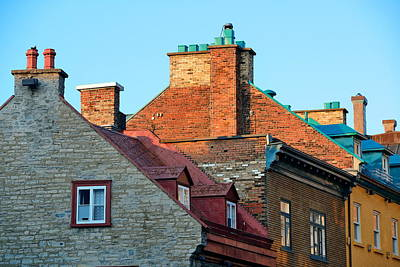 Photograph - Old Buildings In Quebec City by Songquan Deng